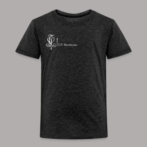 Zirkel mit Name, weiss (vorne) - Kinder Premium T-Shirt