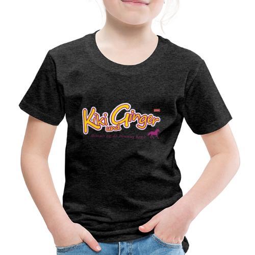 patame Kiki und Ginger Logo mit Pferd - Kinder Premium T-Shirt