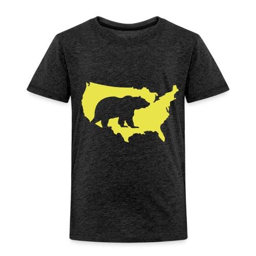 USA Amerika America Grizzly Baer Teddy Bär - Kids' Premium T-Shirt