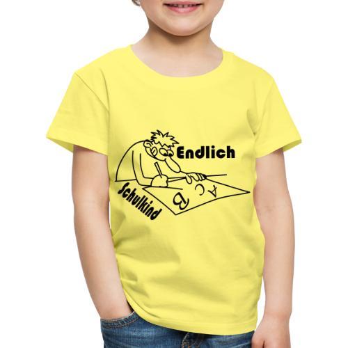 K 0033 Endlich Schulkind - Kinder Premium T-Shirt