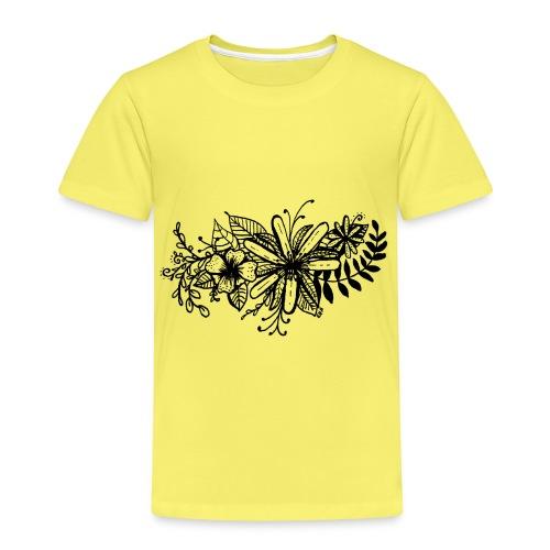 Black Flower Artwork - Kids' Premium T-Shirt
