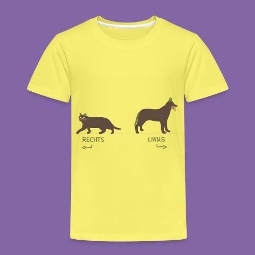 Kinder Kleidung Katze Hund zum Rechts Links lernen - Kinder Premium T-Shirt