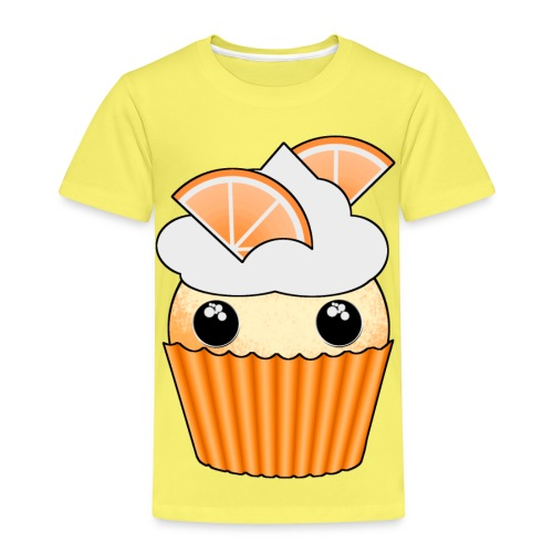 muffins apelsin orange med klyftor - Premium-T-shirt barn