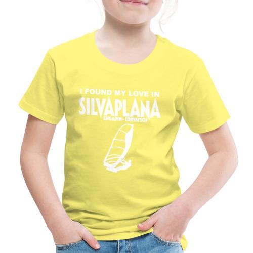 I found my love in Silvaplana, Windsurfing - Kinder Premium T-Shirt