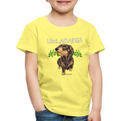 Mäyräkoira KK Luolanainen - Lasten premium t-paita