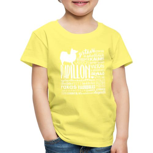 papillonsanat - Lasten premium t-paita