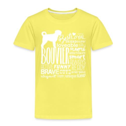 Bouvier Words White - Kids' Premium T-Shirt