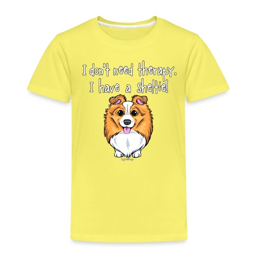 Sheltie Dog Therapy 2 - Kids' Premium T-Shirt