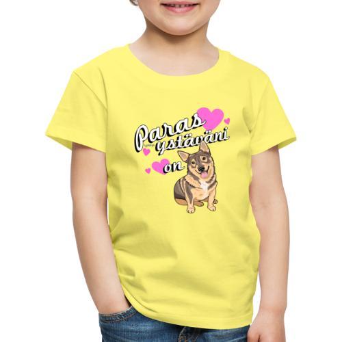Vallhund Göötti Ystäväni - Lasten premium t-paita