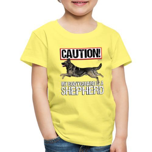 German Shepherd Bodyguard - Lasten premium t-paita