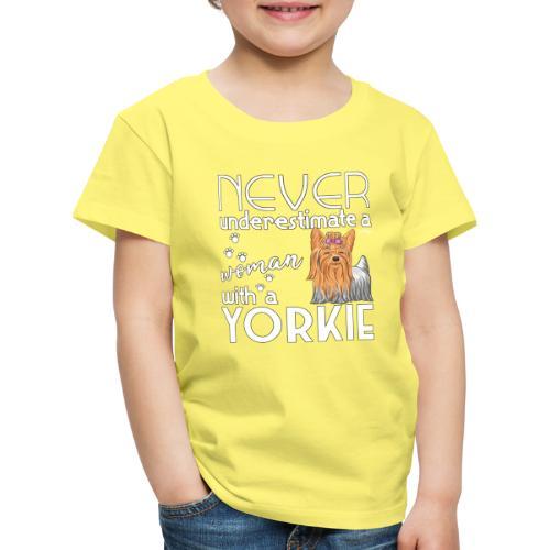 Yorkie Underestimate - Lasten premium t-paita