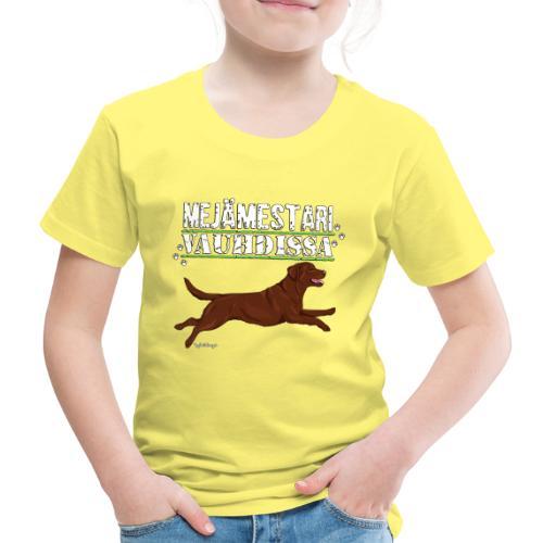 Labradori Mejämestari3 - Lasten premium t-paita