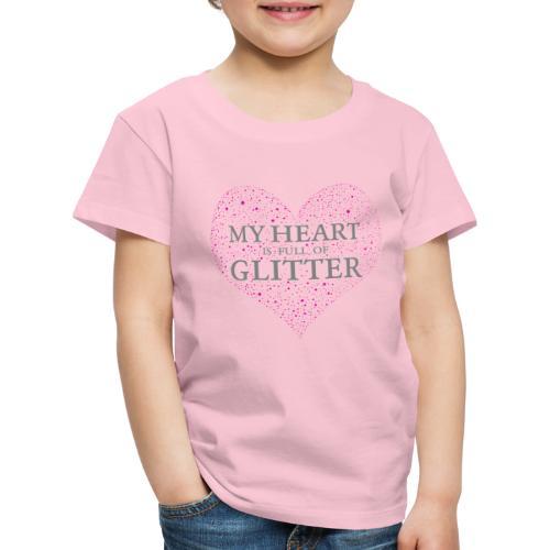 Glitzer Herz - Kinder Premium T-Shirt