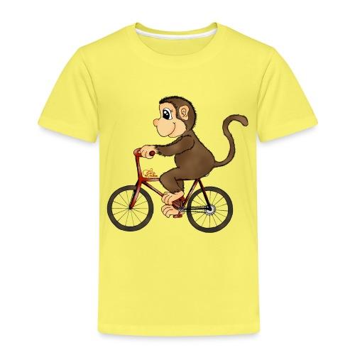 Radelnder Affe - Kinder Premium T-Shirt