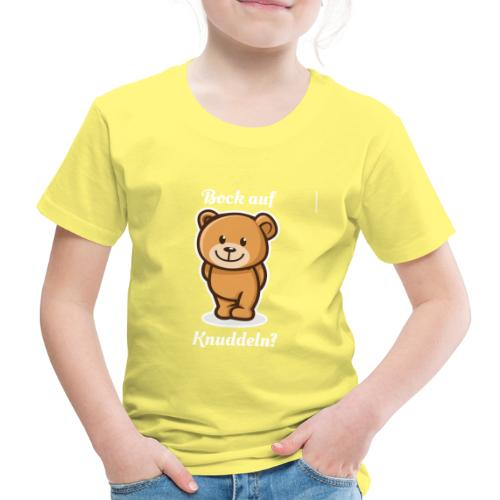Teddybär - Bock auf Knuddeln? white-on-black - Kinder Premium T-Shirt