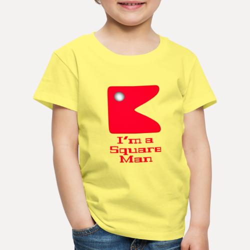 Square man red - Kids' Premium T-Shirt