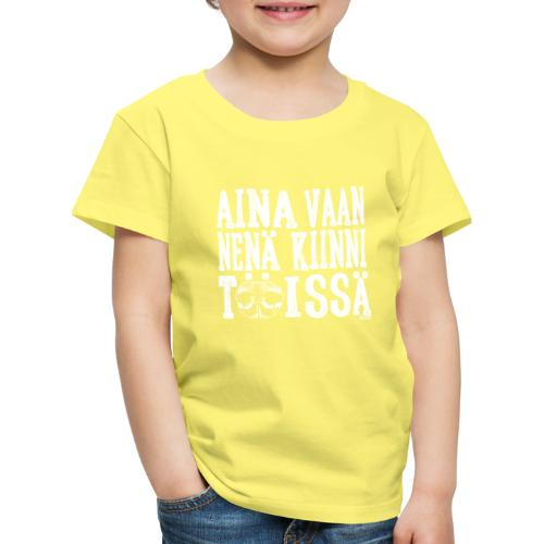 Nose Work Nenä Kiinni - Lasten premium t-paita