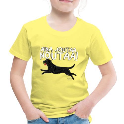 Labradori Noutaa - Lasten premium t-paita