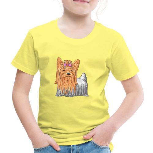 Yorkie - Lasten premium t-paita