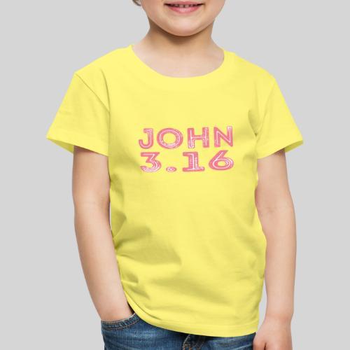 Johannes 3 Vers 16 Bibelversdesign - Kinder Premium T-Shirt