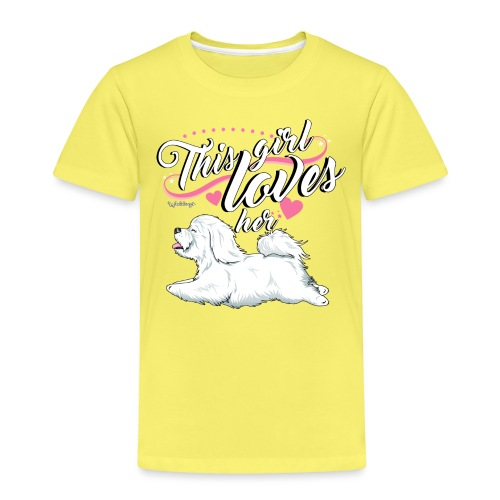 Coton De Tuléar Girl - Kids' Premium T-Shirt