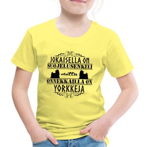 Yorkshirenterrieri Enkeli 3 - Lasten premium t-paita