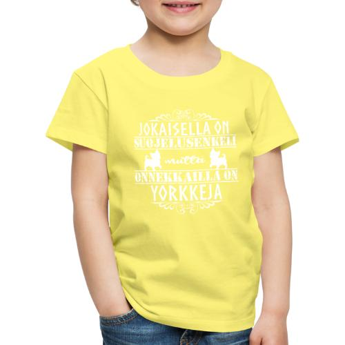 Yorkshirenterrieri Enkeli 7 - Lasten premium t-paita