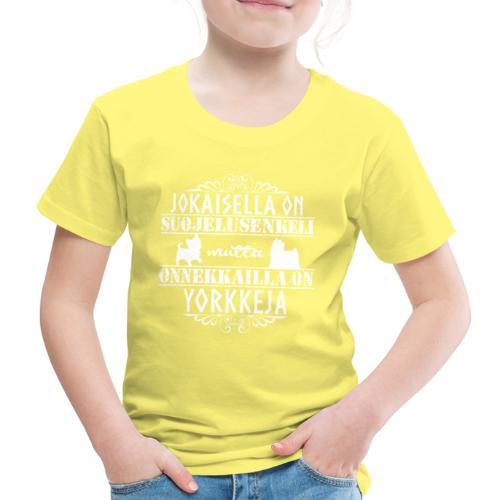 Yorkshirenterrieri Enkeli 2 - Lasten premium t-paita