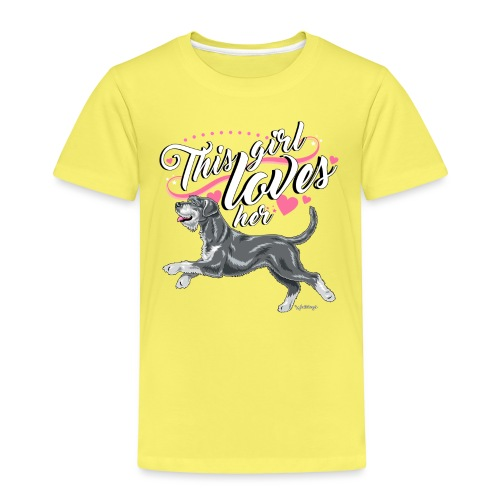 Giant Schnauzer Rice Girl2 - Kids' Premium T-Shirt