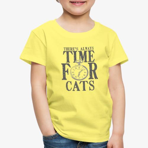 Time For Cats - Lasten premium t-paita