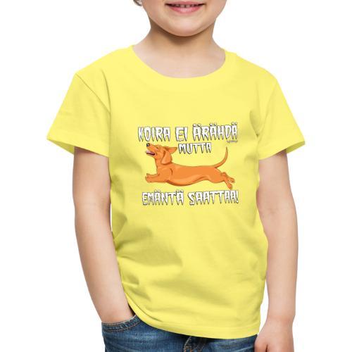 Mäyräkoira LK Emäntä 5 - Lasten premium t-paita