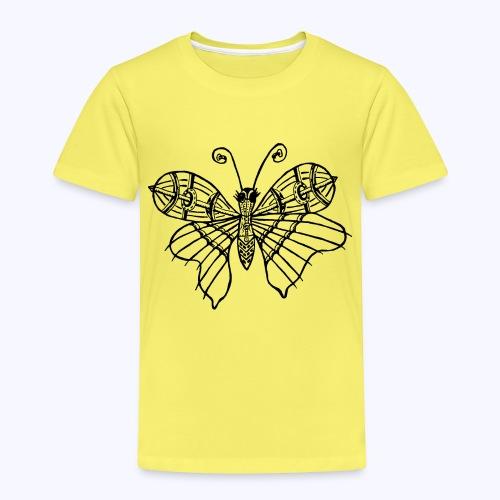 Schmetterling schwarz - Kinder Premium T-Shirt