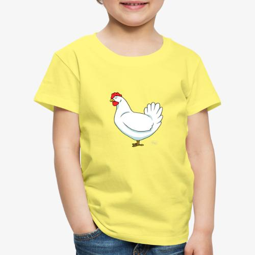 White Chicken - Lasten premium t-paita