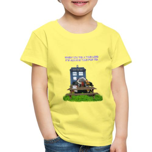 TIME AND SPACE AND TEA - Kids' Premium T-Shirt