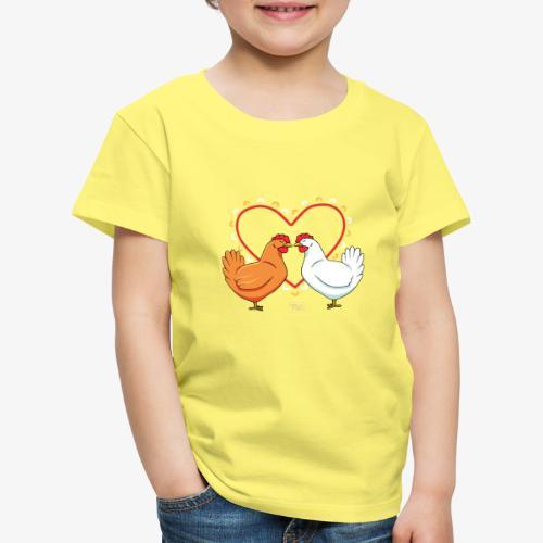 Chicken Love - Lasten premium t-paita