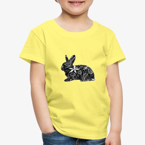 Flower Rabbit - Lasten premium t-paita