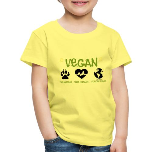 Vegan for animals, health and the environment. - Kids' Premium T-Shirt