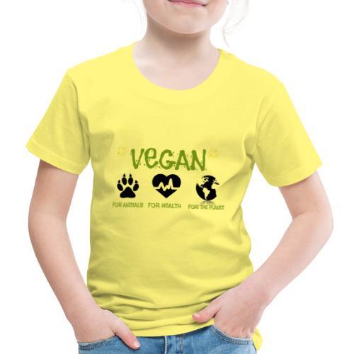 Vegan for animals, health and the environment. - Camiseta premium niño