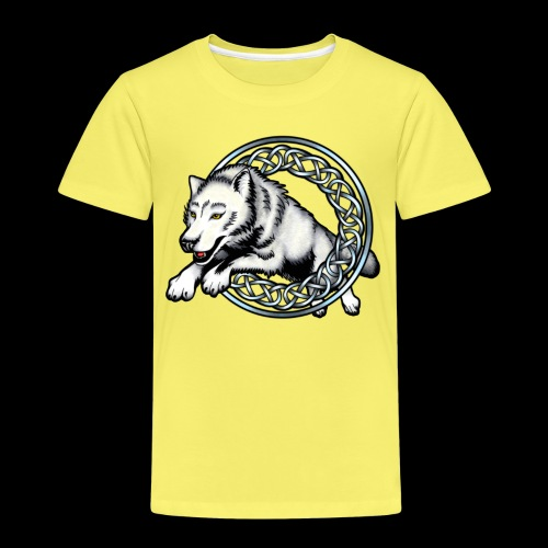 Leaping Wolf - Kids' Premium T-Shirt