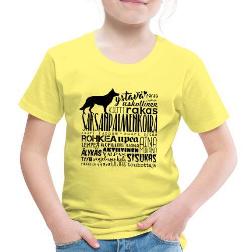 saksanpaimenkoirasanatx - Lasten premium t-paita