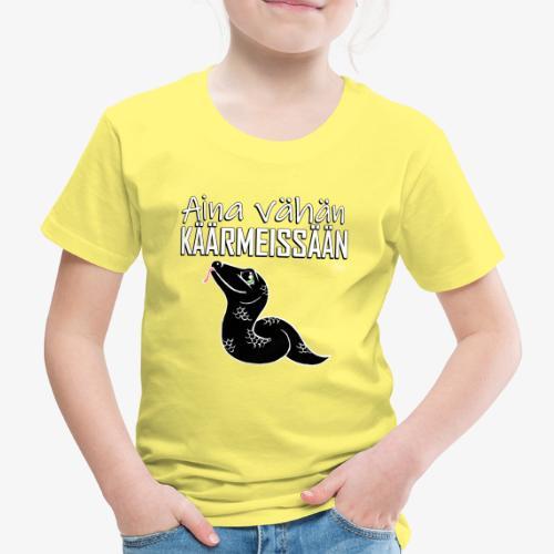 Vähän Käärmeissään V - Lasten premium t-paita