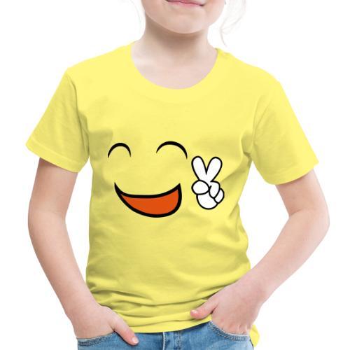 happy face and peace emoji - Camiseta premium niño