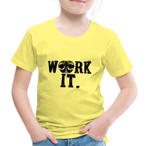 Nose Work It - Lasten premium t-paita