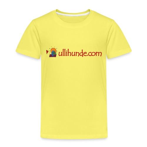 Ullihunde Schriftzug mit Logo - Kinder Premium T-Shirt