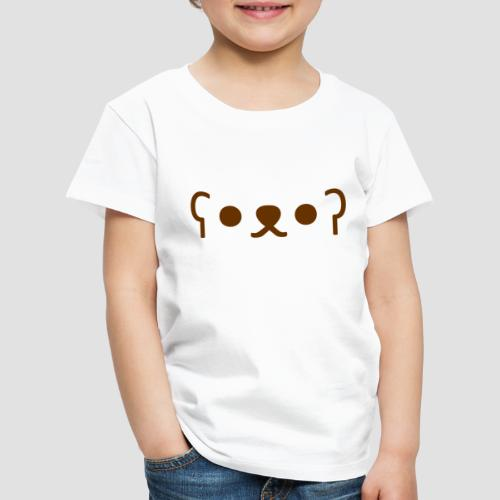 Kuma Kaomoji (Marron) - T-shirt Premium Enfant