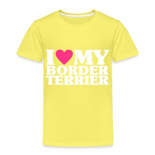 iheartmyborderterrier - Kids' Premium T-Shirt