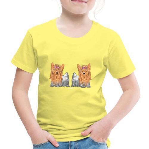 Yorkie Pair - Lasten premium t-paita