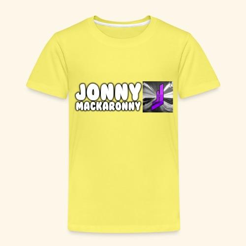 JonnyMackaronny Tekst med Logo - Premium T-skjorte for barn
