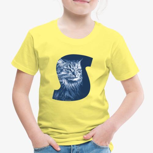 Siberian Cat S Blue - Lasten premium t-paita