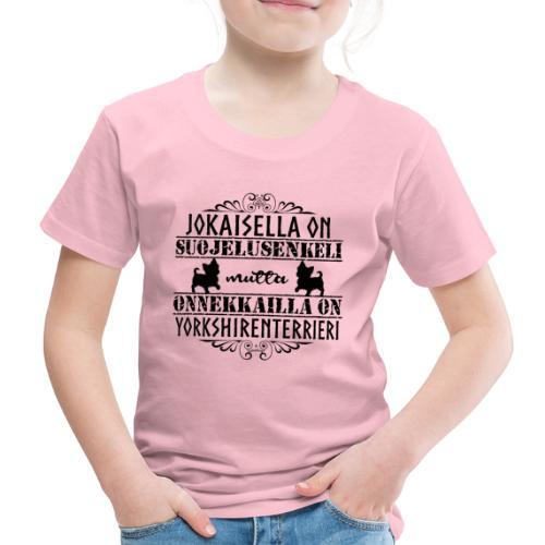Yorkshirenterrieri Enkeli 5 - Lasten premium t-paita